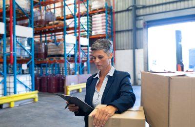 Female Manager Handling Reverse Logistics